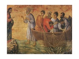 Christ at the Sea of Galilee, Detail from Episodes from Christ's Passion and Resurrection Giclee Print by Duccio Di buoninsegna