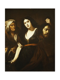 Judith Holding the Head of Holofernes, Accompanied by a Maidservant, C.1625-30 Giclee Print by Andrea Vaccaro