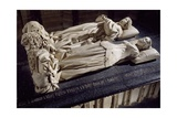 Tomb of Charles I of Bourbon and His Wife Agnes of Burgundy Giclee Print by Jacques Morel