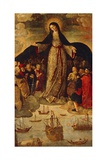 Spain, Seville, Alcazar Palace, Virgin of Seafarers Giclee Print by Alejo Fernandez