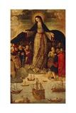 Spain, Seville, Alcazar Palace, Virgin of Seafarers Giclee Print by Alejo Fernandez