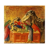 Burial of Christ, Detail of Tile from Episodes from Christ's Passion and Resurrection Giclee Print by Duccio Di buoninsegna