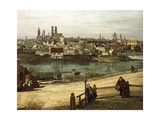 View of Munich from Haidhausen with River Isar in Centre, 1761 Giclee Print by Bernardo Bellotto
