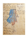 Costume Sketch for Role of Geronte Di Ravoir in Premiere of Opera Manon Lescaut Giclee Print by Giacomo Puccini