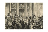 Celebration of the Berlin Population in Front of the Crown Prince Palace on 1 August Giclee Print by Felix Schwormstadt