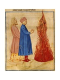Dante and Virgil Meet Ulysses, Scene from Canto XXVI from Divine Comedy Giclee Print by Dante Alighieri