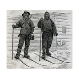 Nansen and Johansen at Cape Flora, Engraving from the Report of the Fram Expedition of 1893-1896 Giclee Print by Fridtjof Nansen
