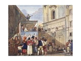 Puppet Theatre in Roman Church of Saints Quirico and Giuditta Giclee Print by Achille Pinelli