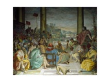 Consul Flaminius Speaking to Council of Achei and Upsets Alliance, 1579-1582 Giclee Print by Alessandro Allori