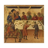 The Wedding at Cana, Detail of Tile from Episodes from Christ's Passion and Resurrection Giclée-tryk af Duccio Di buoninsegna