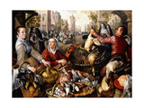 The Four Elements: a Poultry Stall in a Town with the Prodigal Son Beyond - an Allegory of Air Giclee Print by Joachim Beuckelaer