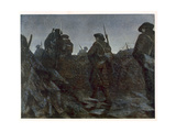 Reliefs at Dawn, from British Artists at the Front, Continuation of the Western Front, 1918 Giclee Print by Christopher Richard Wynne Nevinson