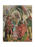 Catherine in the Presence of Emperor Maxentius Giclee Print by Friedrich Pacher