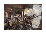 In the Back of a Zeppelin While Returning after a Succesful Attack on England Giclee Print by Felix Schwormstadt