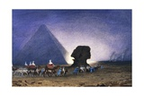 Visit to Sphinx in Giza, from Empress Eugenie of France's Journey in Egypt Giclee Print by Charles Theodore Frere