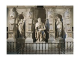 Italy, Rome, Basilica of St. Peter, Rachel, Moses and Leah, Detail from Tomb of Julius II Giclee Print by Michelangelo