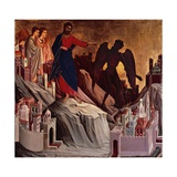 Temptation on Mount, Detail from Episodes from Christ's Passion and Resurrection Giclee Print by Duccio Di buoninsegna