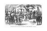 Dupleix Meeting the Soudhabar of the Deccan Giclee Print by Alphonse Marie de Neuville
