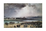 Sardinian Army Crossing the Sesia River in Vercelli, 1859 Giclee Print by Carlo Bossoli