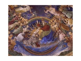 Coronation of the Virgin, Detail from the Life of the Virgin Cycle, 1466-1469 Giclee Print by Filippo Lippi