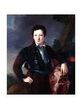 Portrait of Don Matias Edmundo Tirel Y Gomez De Las Casas Giclee Print by Luis Lopez Piquer