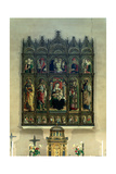 Pietà, Madonna and Child, Eight Saints. Polyptych of Ascoli Cathedral, 1473 Giclee Print by Carlo Crivelli