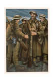 A Group of Soldiers, from British Artists at the Front, Continuation of the Western Front, 1918 Giclee Print by Christopher Richard Wynne Nevinson