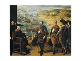 Defence of Cadiz Against English, with Fernando Giron Seated on Left Giclee Print by Francisco de Zurbaran