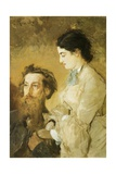 Portrait of Sculptor Reinhold Begas with His Wife, 1869-1870 Giclee Print by Anton Romako
