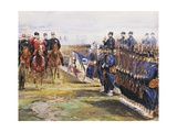 Tsar Nicholas II of Russia and French President Felix Faure Inspecting Troops in Chalon-Sur-Marne Giclee Print by Edouard Detaille