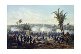 Battle of Veracruz, General Scott's Troops Attacking and Capturing City, 1847 Giclee Print by Carl Nebel