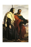The Apostles Philip and James on their Way to their Preaching, That Is, Two Exiled Patriots Giclee Print by Francesco Hayez