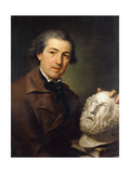 Portrait of Giuseppe Franchi, Half-Length, Holding a Bust of Homer, C.1771-73 Giclee Print by Anton Raphael Mengs