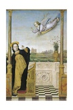 Annunciation, Central Panel of Annunciation with Saints Triptych, 1490-1500 Giclee Print by Carlo Braccesco