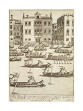 Regatta with Prizes for Watercraft Carrying Women, Venice, 1610 Giclee Print by Giacomo Franco