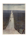 The Road from Arras to Bapaume Giclee Print by Christopher Richard Wynne Nevinson