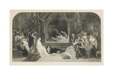 The Play Scene, Act III, Scene II of Hamlet by William Shakespeare, Engraved by Charles W. Sharpe Giclee Print by Daniel Maclise