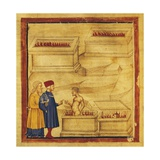 Dante and Virgil Talks to Farinata Degli Uberti, Scene from Canto VI from Divine Comedy Giclee Print by Dante Alighieri