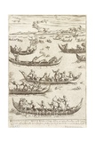 Nobility Hunting Fowl in the Venetian Lagoon in Winter, 1610 Giclee Print by Giacomo Franco