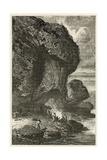 Vue De L'Abri Sous Roche De Bruniquel, Habitation De L'Homme a L'Epoque De Renne Giclee Print by Emile Antoine Bayard