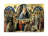 Incoronazione Maringhi or Coronation of the Virgin, 1441-1447 Giclee Print by Filippo Lippi