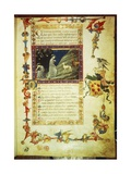 First Page of First Canto of Inferno, Miniature from Divine Comedy Giclee Print by Dante Alighieri