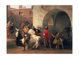 Marco Visconti Found Bice's Leap in Basement of Castle of Rosate Giclee Print by Francesco Hayez