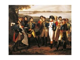 Napoleon 1769-1821 Orders River Danube to Be Bridged at Ebersdorf in Order before Battle of Essling Giclee Print by Lodovico Venuti
