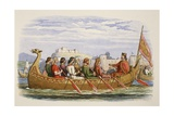 The Barge of Edgar Manned by Eight Kings on the Dee Giclee Print by James William Edmund Doyle