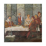 Banquet Given by Bartolomeo Colleoni for King Christian I of Denmark, 1520-30 Giclee Print by Girolamo Romanino