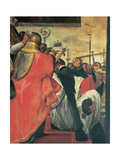 Scenes from the Life of St Charles: Erection of the Crosses in Milan, 1602 - 1603 Giclee Print by Giovanni Battista Crespi