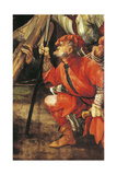 Armed Thug, Ca 1523-1525, Detail from Ascent to Calvary of Tauberbischofsheim Altarpiece Giclée-tryk af Matthias Grünewald