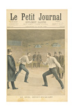 Title Page Depicting the Henry-Picquart Duel Giclee Print by Henri Meyer