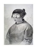Portrait of Tattooed Native from Island of Unalaska, 1778 Giclee Print by John Webber